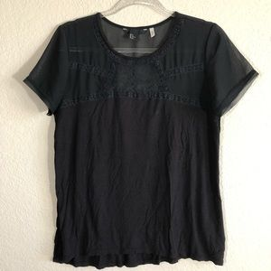 3 for $20. H&M top with lace accents